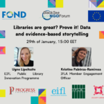 Recordings of Libraries are great? Prove it! Data and evidence-based storytelling workshop
