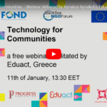 Recordings of the free Webinar on Technology for Communities by Occupy Library Innovators HUB